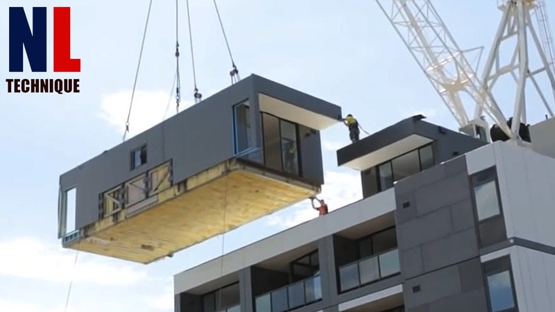 Amazing Modern Technologies Fast Construction and Installation Your House With Modular Home