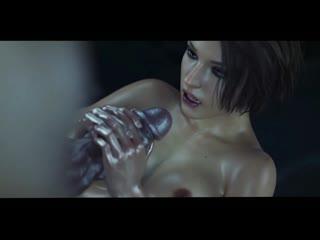 Jill Valentine и Ada Wong futa фута Секс Самое красивое Порно Орал Минет Анал futanari 3D фута 3d porn хентай hentai dick cum