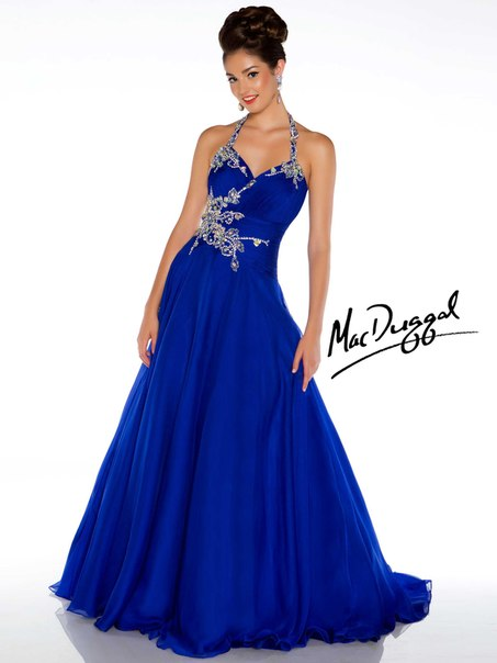 royal blue prom dresses - 736×981