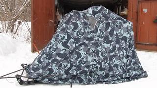 Зимняя палатка своими руками. Быстроразборная.