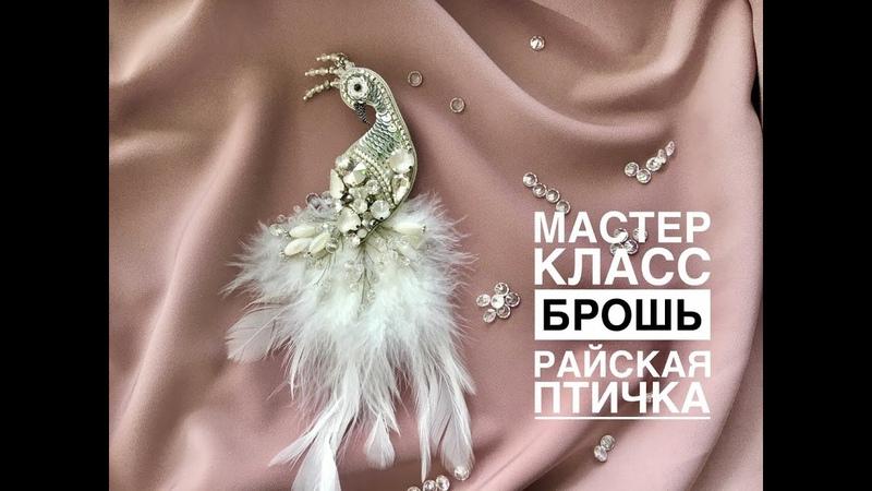 Бесплатный мастер класс брошь Райская птичка Брошь с перьями своими руками