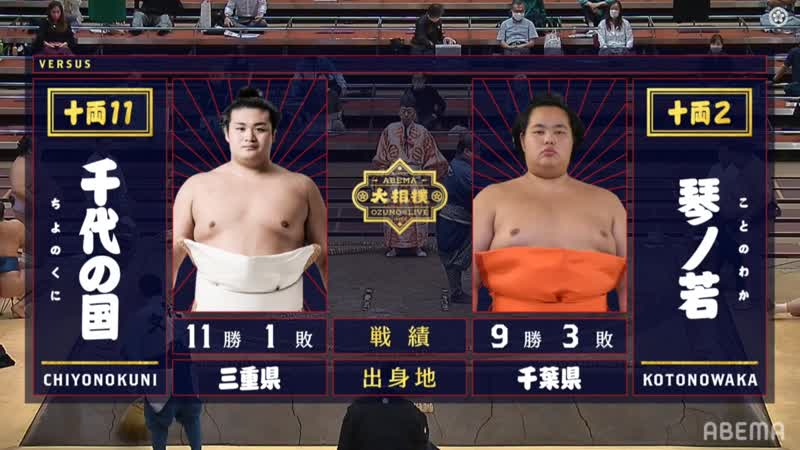 Chiyonokuni vs Kotonowaka - Aki 2020, Juryo - Day 13