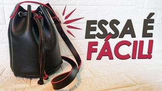 Como Fazer Bolsa Saco - DIY Bucket Bag