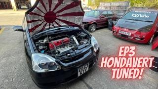 Honda Civic Ep3 TypeR mapped Live with Hondavert at Dynodaze