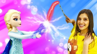 Кукла Эльза Холодное сердце и Корона принцессы Нэллы - Видео для девочек в куклы