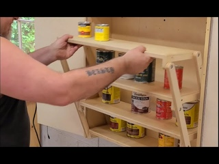 DIY Folding Cabinet for Tiny Homes and Van Life